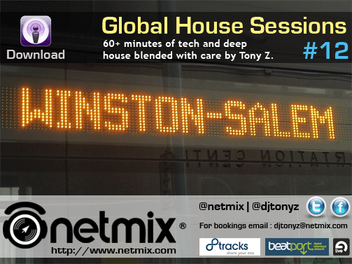 Digital flyer promoting the Netmix Global House Sessions Podcast Episode 11